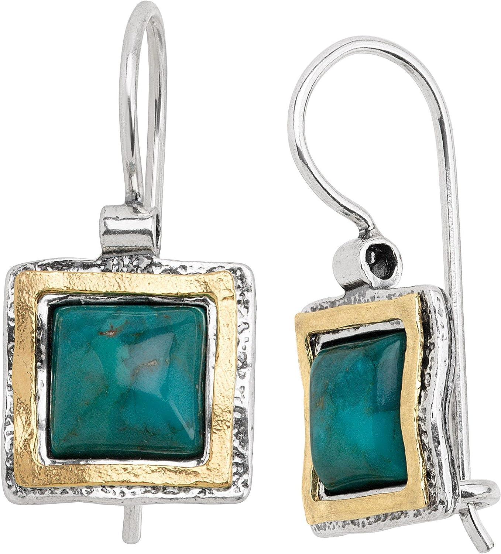 Silpada 'Emerald Lake' Compressed Turquoise Earrings Drop Ste in Elegant unisex