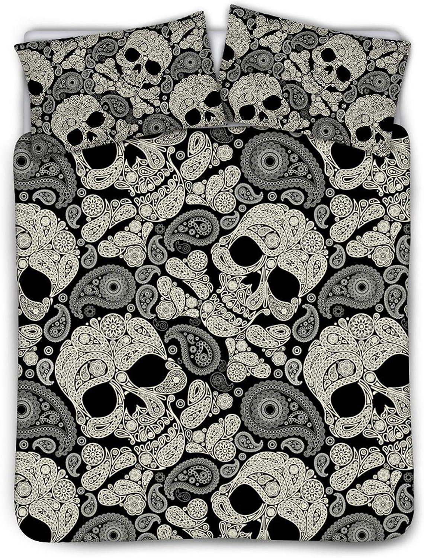 Belidome Boho Skull Design Women Men ギフト Pillo 2 Bedding 激安通販専門店 with Covers
