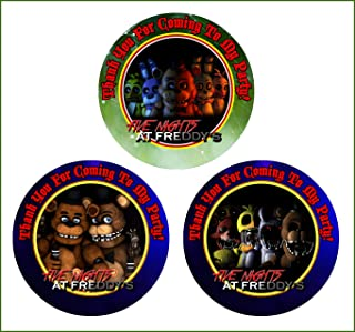 Crafting Mania LLC. 12 Five Nights at Freddy's Birthday Party Favor Stickers (Bags Not Included) #2