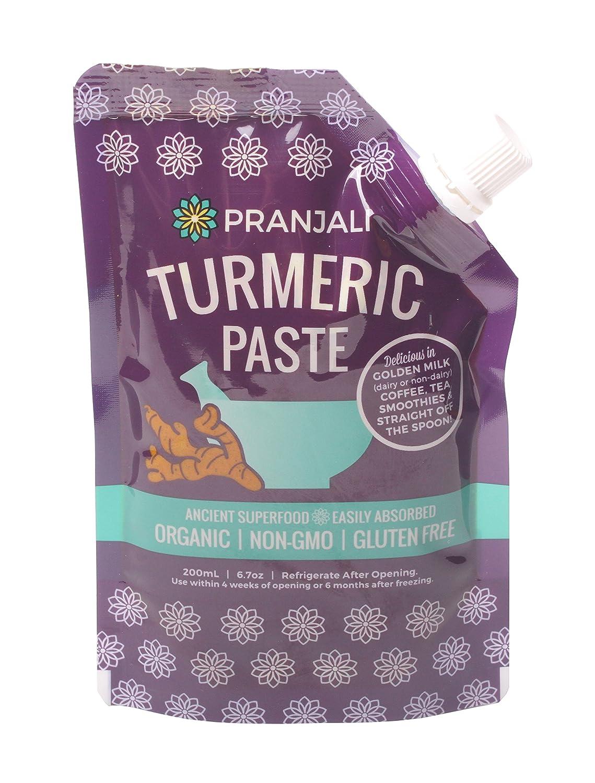 Pranjali Turmeric Paste Golden Non-GMO Organic Gluten Super beauty product restock quality Under blast sales top