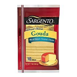 Sargento Gouda Cheese Slices, 7 oz Package