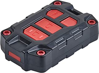 AJT DESIGN Injection Fob Case (2018+ Tundra / 2016+ Tacoma Manual/SR5) Black/RED Screws+Buttons