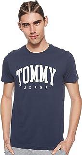 Tommy Jeans Men's TJM Essential Logo T-Shirt, Blue (Black Iris 002), Large