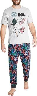 MARVEL Pyjamas for Men   PJ Sets with Captain America Shield and Avengers Superhero Tshirt   Mens Pyjama with Short Sleeve...