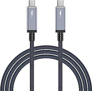 Thunderbolt 3 Cable 1.5M 40Gb/s 100W USB 4.0 サンダーボルト 3 PD対応 thunderbolt3 超高速 ケーブル