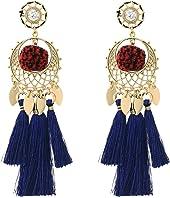 Rebecca Minkoff - Tassel and Pom Drama Chandelier Earrings