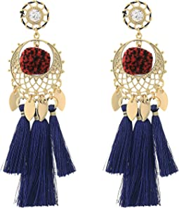 Rebecca Minkoff - Tassel and Pom Drama Chandelier Earrings