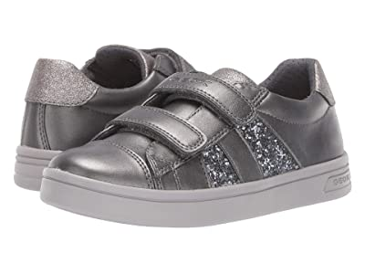 Geox Kids Jr Djrock 35 (Little Kid/Big Kid) (Black/Charcoal 2) Girls Shoes