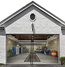 Magnetic Garage Screen Door for Single Garage Doors 8x7FT- Reinforced Fiberglass Door Screen Curtain for Garage Door,Hands Free Magnetic Screen Door