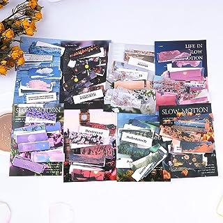 Dizdvizd 8 Pack d'Autocollants Scrapbooking, 480 Feuilles Stickers en Papier Paysage Naturel Belle Scène de Vie Fleurs d'é...
