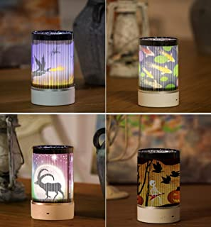 M&Ostyle Night Light, 15-Colors Moving Animated Night Light,Starlight Projection Lamp Moving Christmas Deer, Wolf, Fire-Breathing Dragon, Halloween Pumpkin Head, Fish,Unique Gift