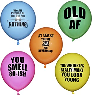 ROFLmart Rude Balloons Offensive Abusive Happy Birthday Party Balloons 20 Pack