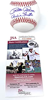 Pete Rose Cincinnati Reds Signed Autograph Official MLB Baseball CHARLIE HUSTLE INSCRIBED JSA Witnessed Certified