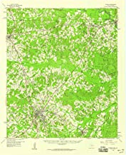 YellowMaps Center TX topo map, 1:62500 Scale, 15 X 15 Minute, Historical, 1958, Updated 1959, 20.9 x 17 in