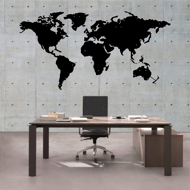Amazon Com Dekadron Metal Wall Art Metal World Map Asia Europe America And Australia Continents Metal Wall Decor Metal Sign 4 Pieces 39 Wx21 H 100x52 Cm Home Kitchen