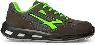 U-Power RL20036 RedLion Point S1P SRC - Scarpe antinfortunistiche con suola Infinergy, Grigio scuro/Verde, 45 EU, Puntale ...