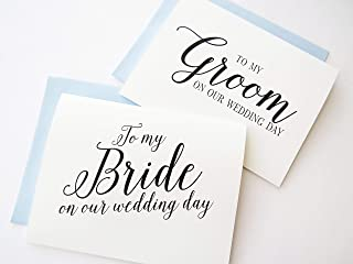 bride to groom wedding day card