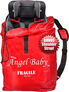 Angel Baby Car Seat Travel Bag for Air Travel: Carseat Bag for Gate Check, Red