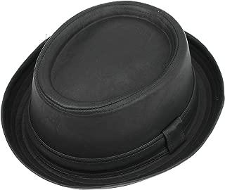 Sombrero negro vintage flexible, estilo Pork Pie, hecho con piel sintética, similar al de Heisenberg en Breaking Bad, unisex