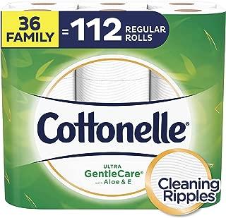 Cottonelle Ultra GentleCare Toilet Paper, Sensitive Bath Tissue, 36 Family Rolls+