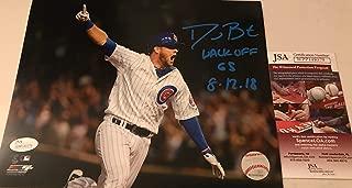 David Bote Chicago Cubs Autographed Signed 8x10 JSA WITNESS COA WALK-OFF GRAND SLAM 8-12-18