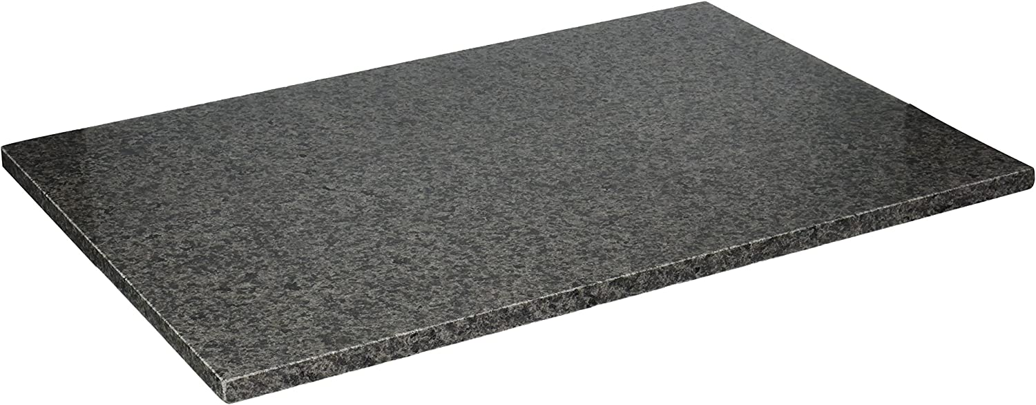 Creative Home Natural Stone Granite 12  x 18  Pastry, Cutting, Serving Board Slab with No-Slip Rubber Feet