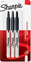 Sharpie Retractable Permanent Markers, Fine Point, Black, 3 Count