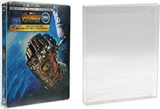 Malko Blu-ray Steelbook Protector Case for Standard G2 - Acid Free Plastic Protective Sleeve (10 Pack)