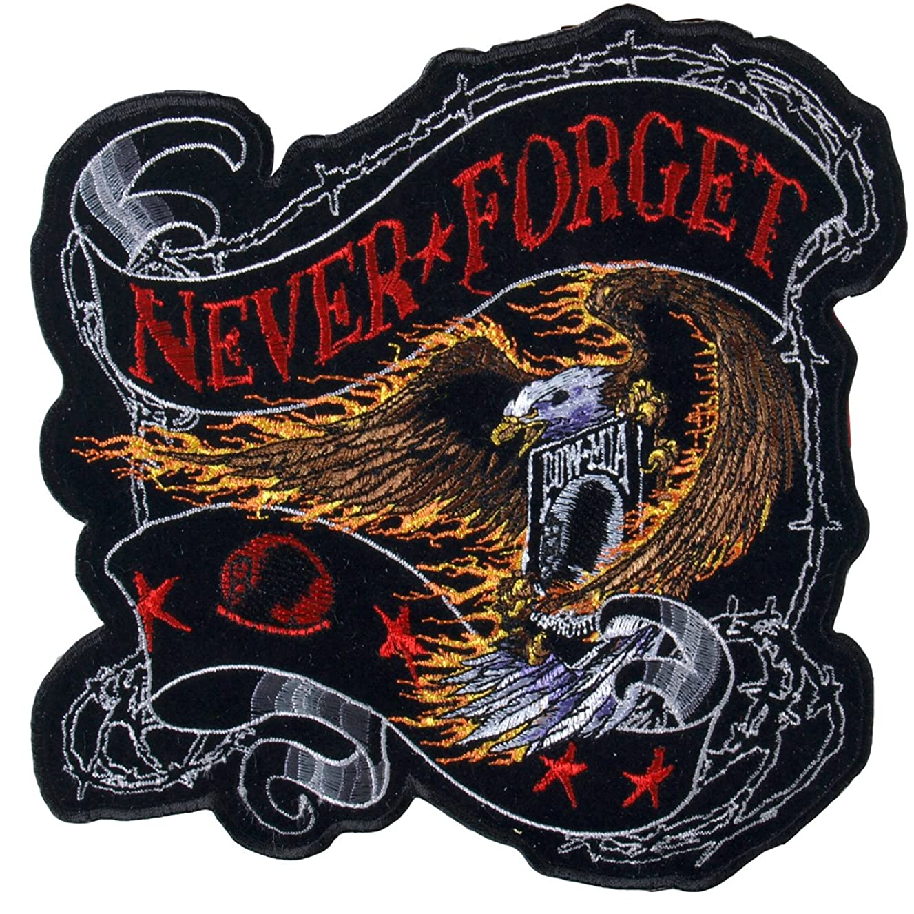 Hot Leathers Never Forget Eagle Patch (4