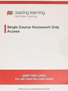 Sapling Learning Homework for Principles of Macroeconomics (Single-Term Access)