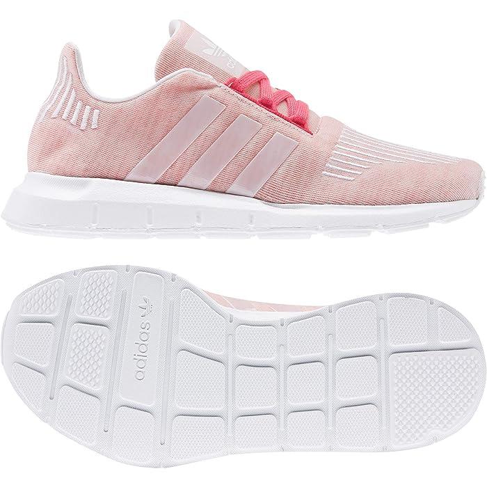 adidas Originals Kids  Swift Run J (Big Kid) (Shock Red/White) Girls Shoes