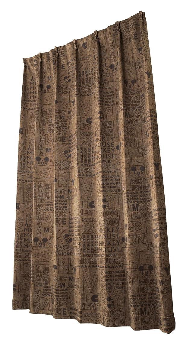 嘆願勝利した大破ユニベール ディズニー ドレープカーテン エイジdeミッキー ブラウン 幅100cm×丈135cm 2枚組