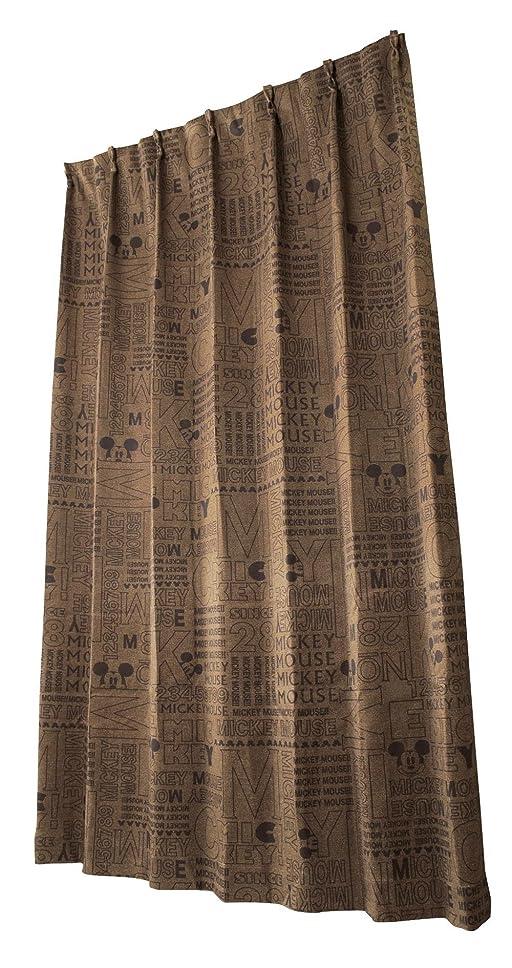 ランチ称賛一ユニベール ディズニー ドレープカーテン エイジdeミッキー ブラウン 幅100cm×丈135cm 2枚組