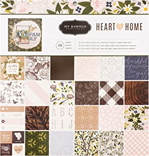 American Crafts Jen Hadfield Heart of Home 48 Sheet 12 x 12 Inch Paper Pad