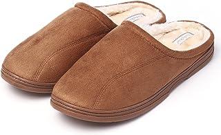 KushyShoo Mens Slippers, Indoor Outdoor Slipper for Men, Cozy Clog House Slippers
