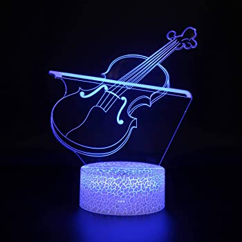 15 LED Color Changing Electric Guitar Lamp Including Remote Control USB Cable and Wall Charging Unit GREAT FOR KIDS /& MUSIC FANS Cool n Nice Things Electric Guitar 3D Lamp with Remote Control AND Wall Outlet Plug-In