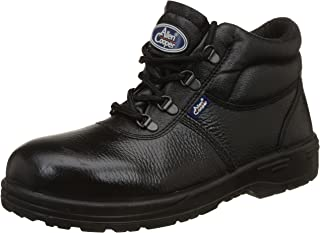 Allen Cooper AC-1144 High Ankle Safety Shoe, DIP-PU Sole, Black, Size 8