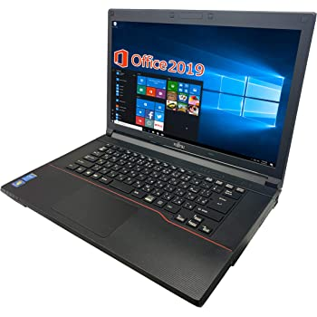 富士通 ノートPC A574/MS Office 2019/Win 10/15.6型/Blu-ray/Core i5-4300M/4GB/128GB SSD (整備済み品)
