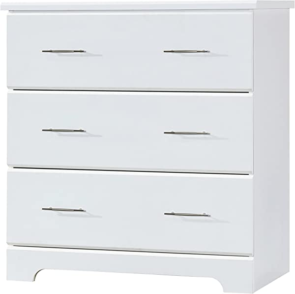 Storkcraft Brookside 3 Drawer Chest White Kids Bedroom Dresser With 3 Drawers Wood And Composite Construction Ideal For Nursery Toddlers Room Kids Room