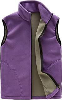 Adult Mens Lightweight Sleeveless Fleece Warm Vest Athletic Gilet Front Zipper Jacket with Pockets