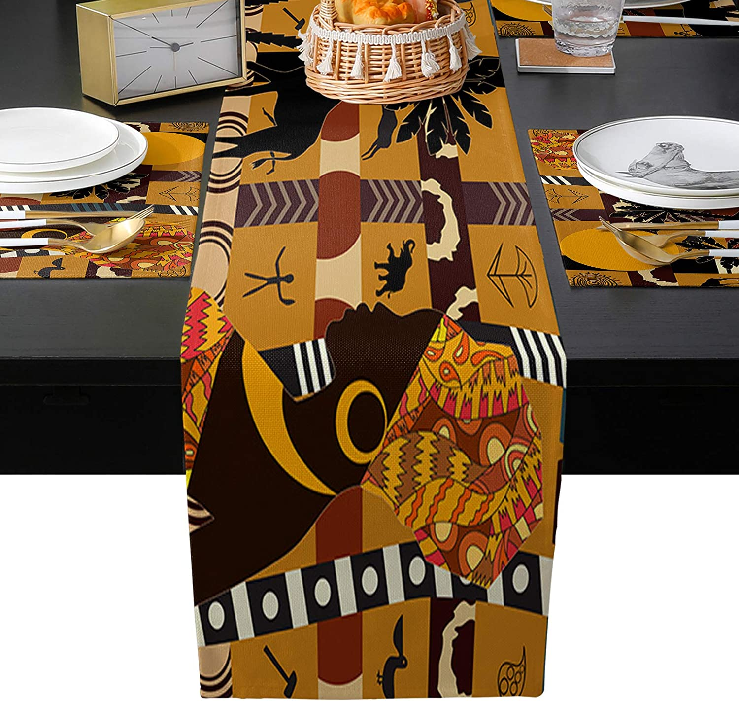 EZON-CH Placemats with Table Runner Set Gorgeous of T 4 Slip Non Arlington Mall Washable
