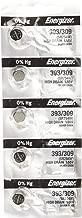Energizer SR754W 393 Silver Oxide Watch Battery 5 Pack