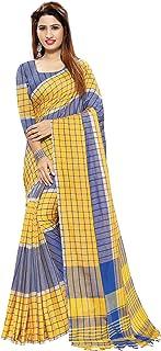 Venisa Women's Linen Cotton Saree with Blouse Piece-CT