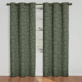 Eclipse Meridian Thermal Insulated Single Panel Grommet Top Darkening Curtains for Living Room, 42