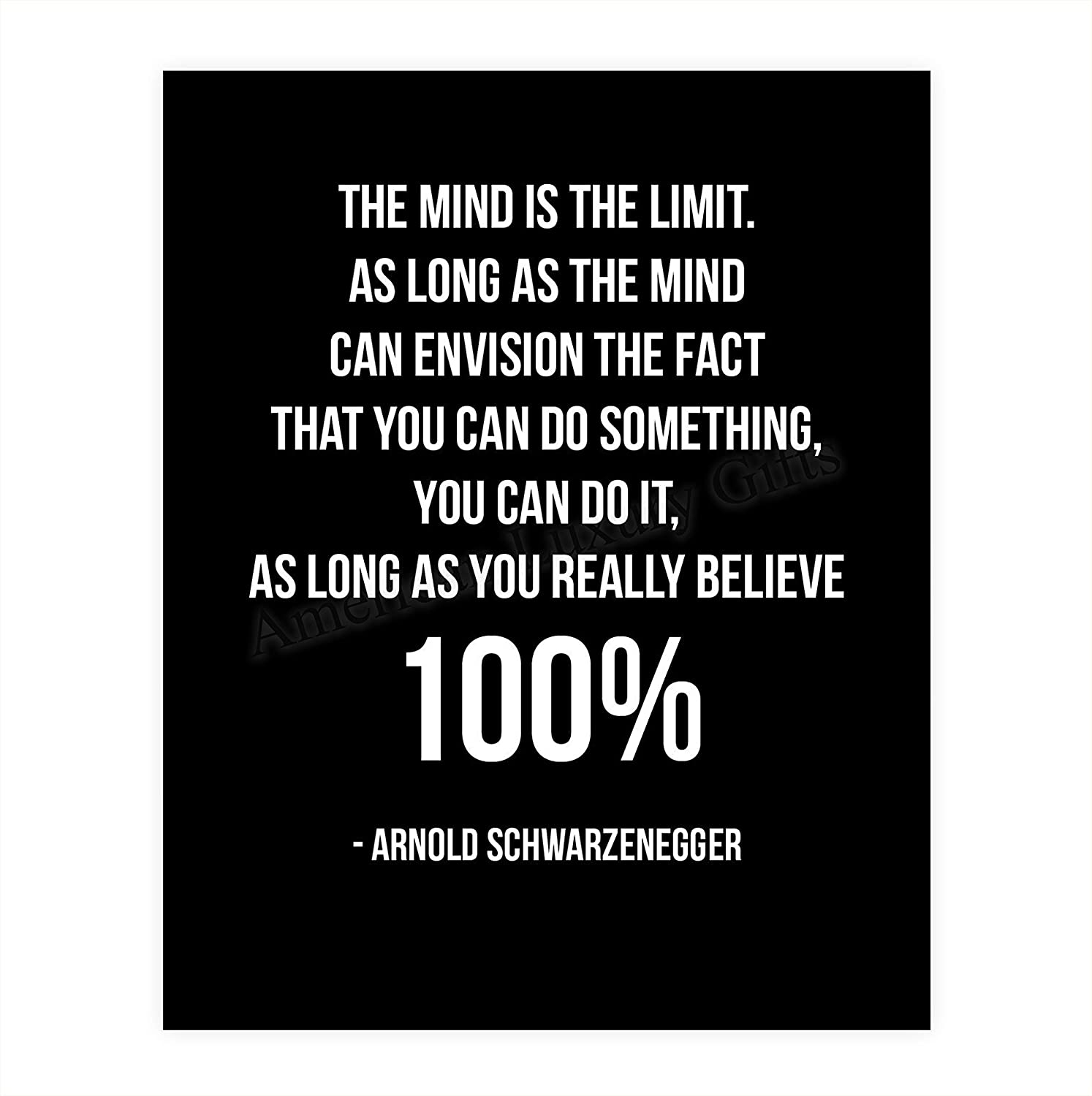 """""""Envision You Can Complete Free Shipping Do Recommended Quotes It-100%""""-Arnold Schwarzenegger Wall"""