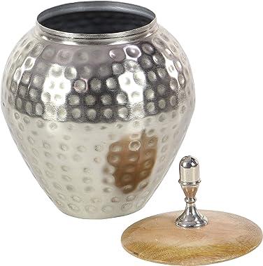 """Deco 79 37530 Amazing Metal Wood Jar, 8"""" W x 12"""" H"""