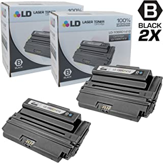 LD Compatible Toner Cartridge Replacement for Xerox Phaser 3300MFP 106R1412 High Yield (Black, 2-Pack)