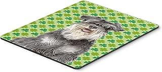 Caroline's Treasures St. Patrick's Day Shamrock Schnauzer Mouse Pad/Hot Pad/Trivet (KJ1199MP)