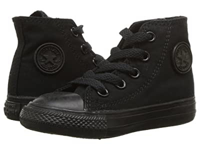 Converse Kids Chuck Taylor(r) All Star(r) Core Hi (Infant/Toddler) (Black/Monochrome) Kids Shoes