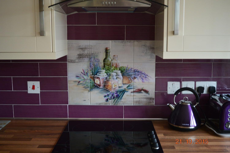 Ceramic Tile Mural Kitchen Backsplash Bathroom Shower By Rita Broughton Spicy Tools Home Improvement Building Supplies Botani Com Au